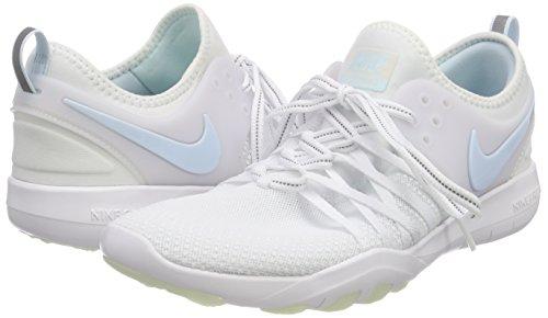 NIKE Women's Free TR 7 Training Shoes (9, White/Grey/Blue-M) by NIKE (Image #5)