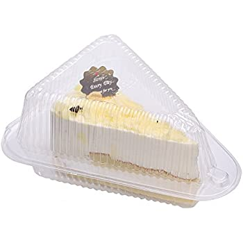 Amazon Com Set Of 50 Cheesecake Cake Slice Container Pods