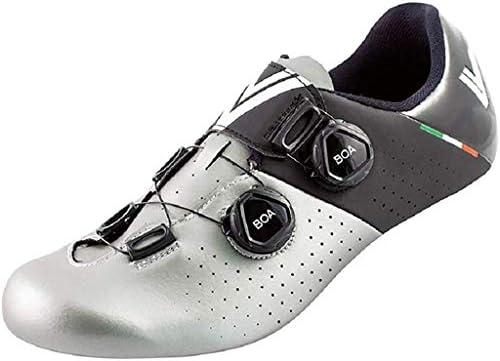 Argent//Noir Vittoria Stelvio Road Cycling Shoes