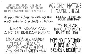 Stamps for Card-Making and Scrapbooking Supplies by The Stamps of Life - Happy Birthday Sentiment BirthdayGreetings2Send