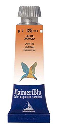 MaimeriBlu Artist Watercolor Paints, Orange Lake, 15ml Tubes, 1604125