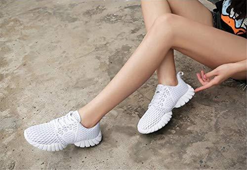 Dicke Shake Schuhe Schuhe Weiß Polyurethan Untere Schwarz Erhöhen Mesh Höhe Rosa Exing Frauen B Damenmode PU Freizeitschuhe YwR8q