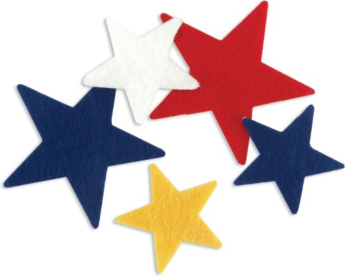 New Image Group FSSIF-03 Stick It Felt Shapes, Stars, 68-Pack ()