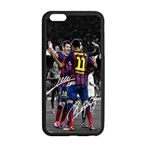 Onshop Custom FC Barcelona Lionel Messi and Signature Phone Case Laser Technology for iPhone 6 Plus