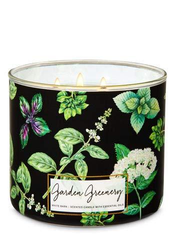 White Barn Bath & Body Works 3 Wick Candle Garden Greenery (Garden Candle)