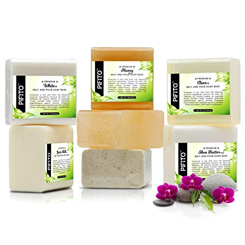 Pifito Premium Melt and Pour Soap Base Sampler Assortment