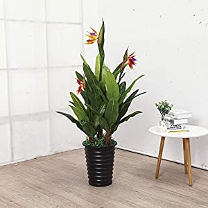 Decorations Artificial Flowers Greenery 120cm 3 Forks Bird of Paradise Trees Without Pot Home Decoration Bonsai Artificial Plants - (Color: 1.2m 3 Forks) 29