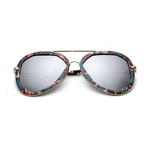 Negro Redondo La Plata 100 gafas sol Retro WYYY Clásico Anti de Marco Luz Protección Decoración Solar Color Polarizada Imprimir UVA Sra UV Protección Hombres cgHwq81xBw