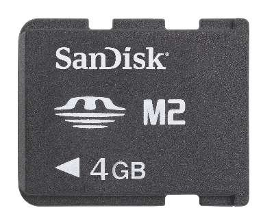 Sandisk Mobile Memory Stick - Sandisk 4GB M2 Memory Stick Micro (SDMSM2-4096-E11M, Retail Package)