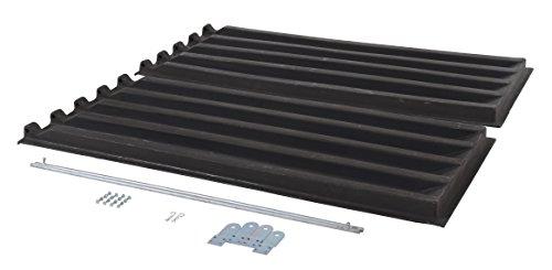 (Vestil PLID-D-200 Heavy Duty Lid for 2 Cubic Yd. D-Style Self-Dumping Hoppers, Polyethylene, Black)