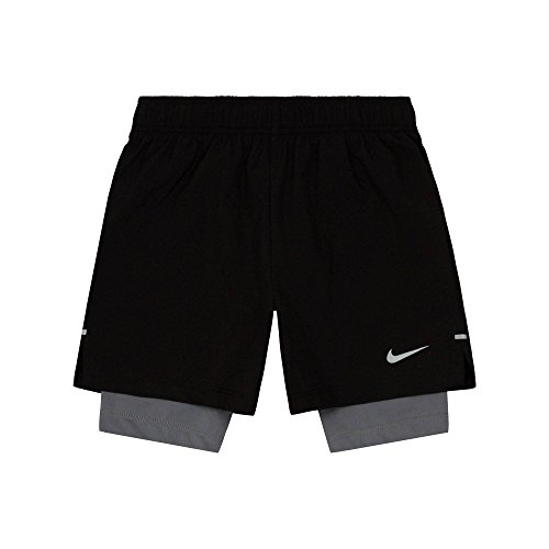 Price comparison product image Nike Boys 2-in-1 Shorts - Black/Grey (7)
