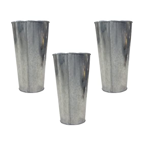 Hosley Set of 3 Galvanized Vases French Buckets 9 Inch High. Ideal for DIY Craft and Floral Projects Party Favors Festivities Wedding O3 - PRODUCT: Hosley Galvanized Vases / French Buckets, Set of 3 USES: These are just the right gift for a wedding and can be used for a party, reiki, spa. The vase can complement a variety of decors that other vases are limited in. BENEFITS: It can accent your home or office for the right decor with or without floral or greenery additions. Must use liner if used with fresh flowers. - vases, kitchen-dining-room-decor, kitchen-dining-room - 41%2Bhpwul1cL. SS570  -