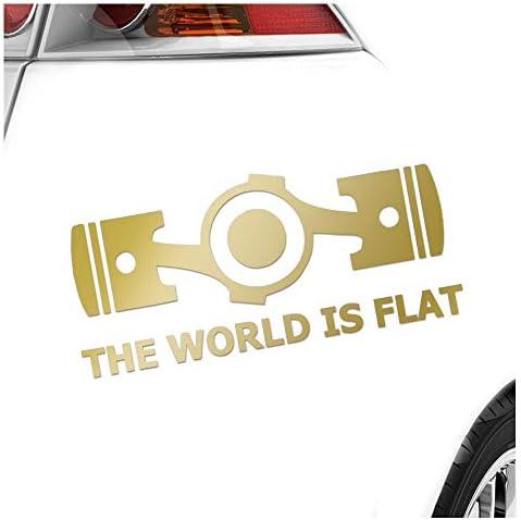 Kiwistar The World Is Flat 20 X 9 Cm In 15 Farben Neon Chrom Sticker Aufkleber Auto