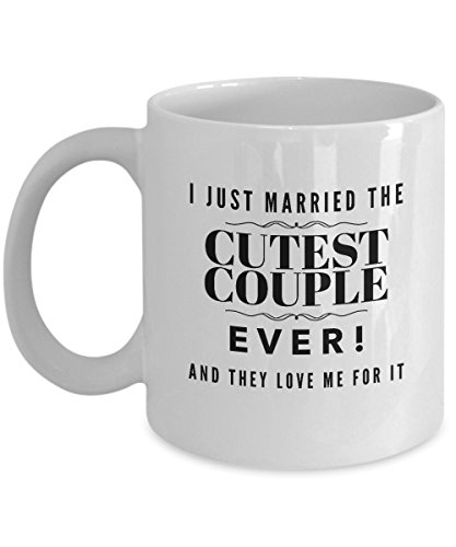 Wedding Officiant Mug - I Just Married the Cutest Couple Ever - Funny Gift Mug for Reverend | Pastor | Minister | Priest | Preacher - They Will Laugh and Love It! - Ceramic (15 oz)