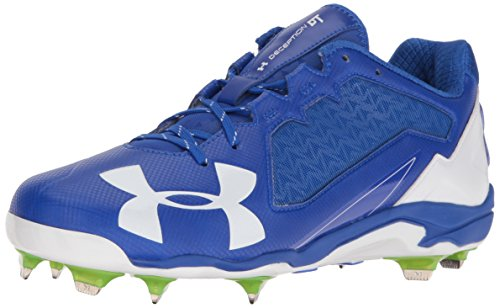 (Under Armour Men's Deception Low DiamondTips Baseball Shoe Team Royal (411)/White 10)