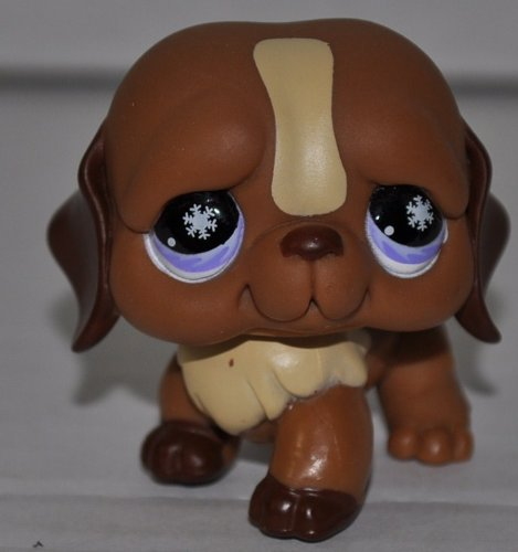St. Bernard #729 (Pink/Purple Eyes, Snowflakes in Eyes) Littlest Pet Shop (Retired) Collector Toy - LPS Collectible Replacement Single Figure - Loose (OOP Out of Package & Print)