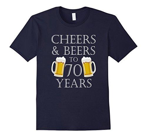 s to 70 Years T-Shirt - 70th Birthday Gift Large Navy (70's Tee)