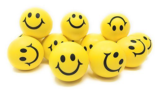 Smiley Face Stress Balls, Fun Bulk Toys, Party Favors by OTTC. Happy Smile Face Yellow Stress Balls Bulk Pack of 12 2