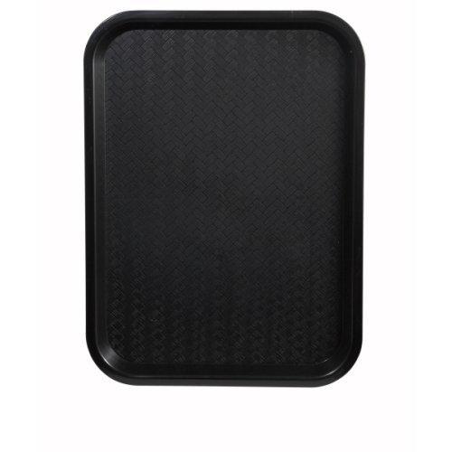 Winco FFT-1014K Fast Food Tray, 10-Inch by 14-Inch, Black, Set of 6