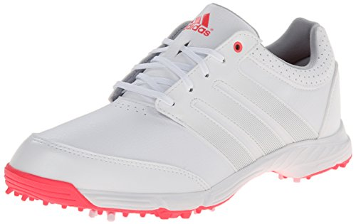 adidas Women's Response Light Golf Shoe, White/Silver Metallic/Flash Red, 9.5 M US