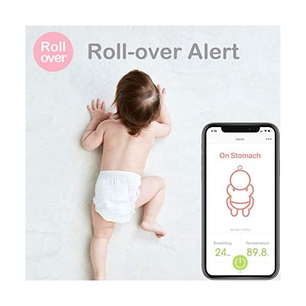 (Body Temp Version) Sense-U Baby Monitor with Breathing Rollover Movement Temperature Sensors: Tracks Your Baby's… 5