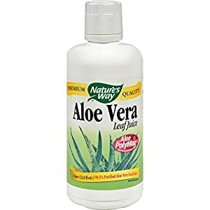 Nature's Way Organic Aloe Vera Whole Leaf Juice -- 33.8 fl oz