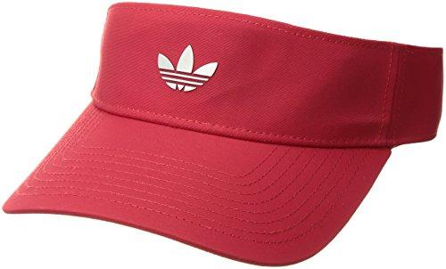 adidas Originals Modern II Visor, Scarlet/Ref Silver, One (Red Beanie Visor)