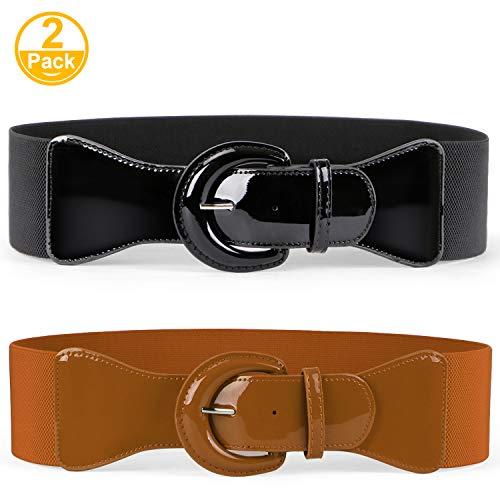 JASGOOD Women Wide Stretchy Cinch Belt Dress Elastic Waist Belts For Women Dress