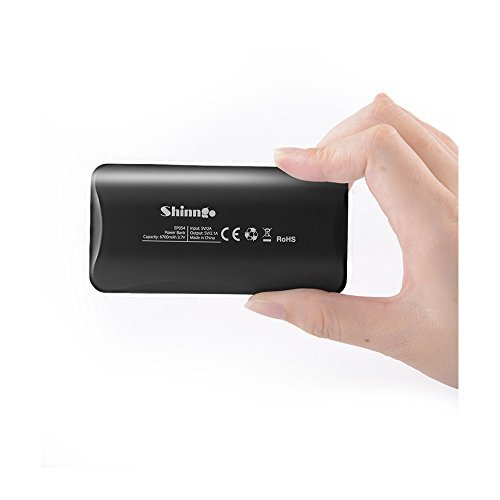 Shinngo Mini High-Speed Portable Charger 6700mAh Power Bank Ultra Compact External Battery Pack with Smart LCD Digital Screen for Smartphones and Tablets