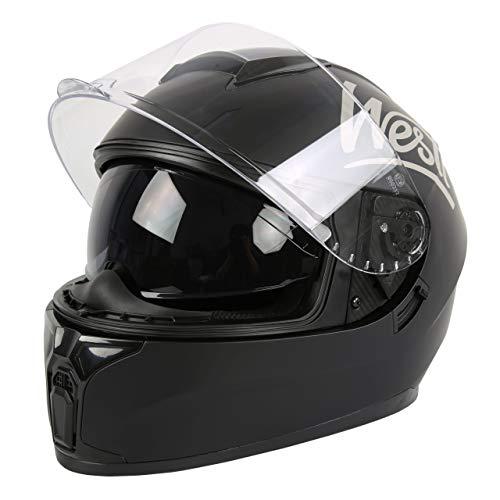 WESTT Storm X Motorrad-Integralhelm I Motorradhelm schwarz-matt I innovativer Smart-Helm I stoßfester Motorradhelm I…