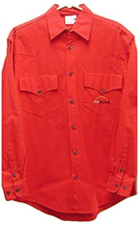 Modestone Men's Long Sleeve Fitted Western Shirt Fergome 38 Red