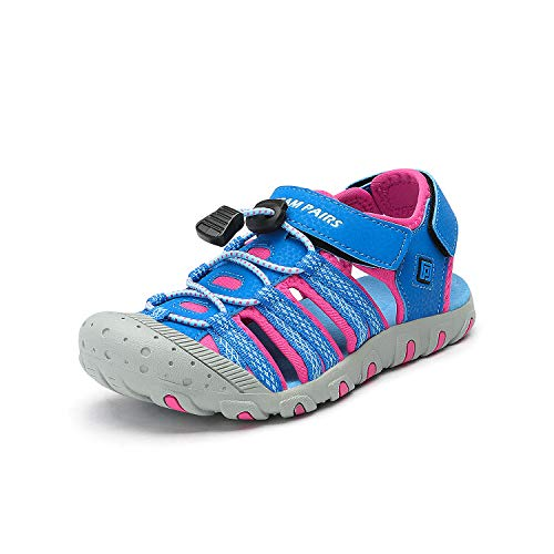 DREAM PAIRS Boys Girls Toddler 171111-K Royal Fuchsia Outdoor Summer Sandals Size 9 M US Toddler