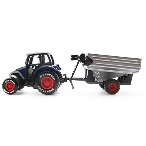 Tonmp Pull Back Truck ,Die Cast Metal Trailer with Grain Cart Toy for Kids Toddler Boys, 1:64 Scale(Trailer)