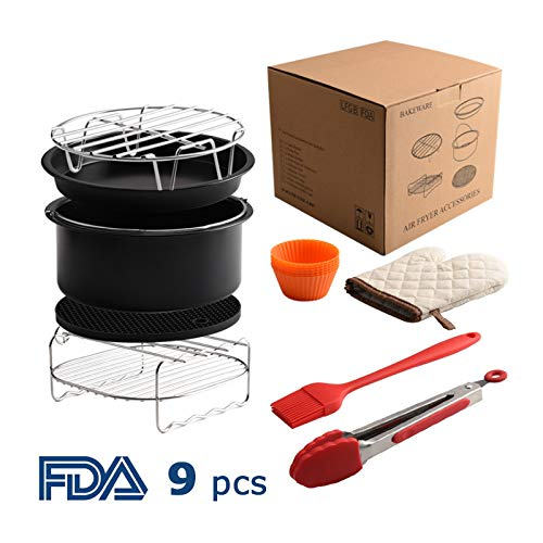 OK5STAR XL 8 Air Fryer Accessories for Gowise Phillips and Cozyna or More Brand,Air Fryer Accessories Kit of 9 Fit 5.3QT-5.8QT