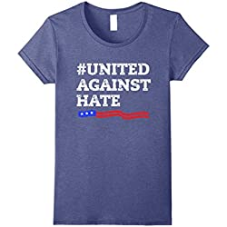 Womens United Against Hate! Anti Trump Resistance Movement! Tee Large Heather Blue