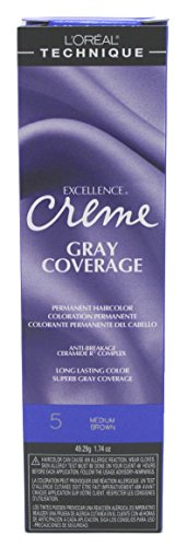 L'oreal Excellence Creme Permanent Hair Color, Medium Brown No.5, 1.74 Ounce