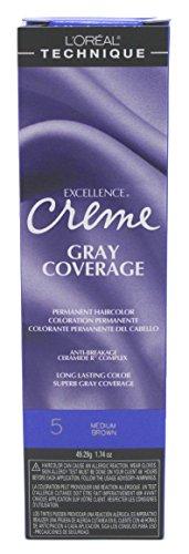 Para Color - L'oreal Excellence Creme Permanent Hair Color, Medium Brown No.5, 1.74 Ounce