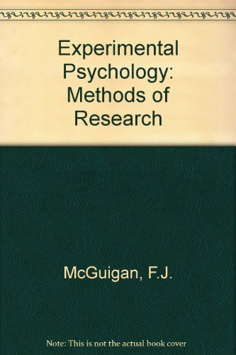 Experimental Psychology: Methods of Research