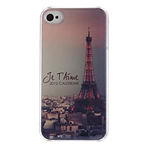 Vintage Eiffel Tower Pattern Epoxy Quality PC Hard Case for iPhone 4/4S