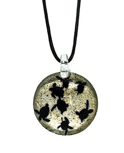 Handmade Sea Turtle Baby Glass Blown Glass Pendant Necklace Jewelry - Model Y2017