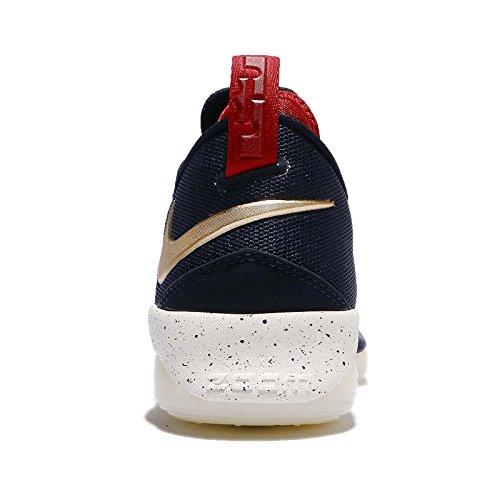 separation shoes 43fe1 830dd ... Nike Hommes Lebron Xiv Bas Ep, Marine De Minuit   Or Métallique Marine  De Minuit ...
