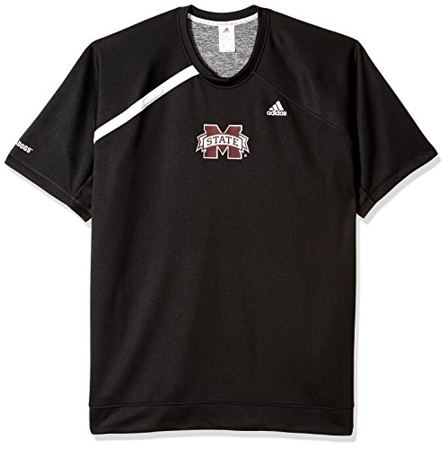 adidas NCAA Mississippi State Bulldogs Mens On Court S/Shooting Shirton Court S/Shooting Shirt, Black, XX-Large