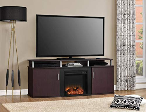 Cheap Home Joy TV Stand with Fireplace Entertainment Center 70 in Flat Screens Storage Cabinet Electric Indoor Heater Living Room Bedroom Black Friday & Cyber Monday 2019