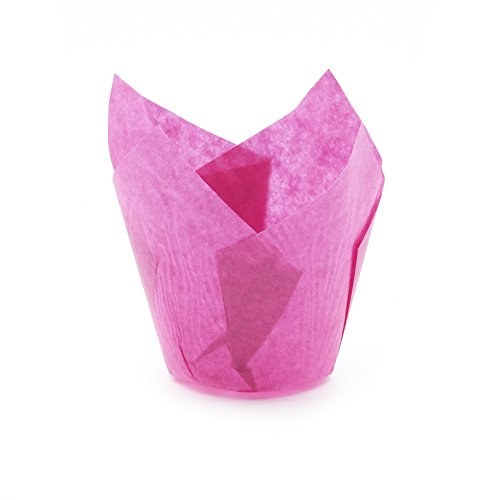 Hot Pink Tulips - Hot Pink Tulip Baking Cups, Extra Large, Pack of 100