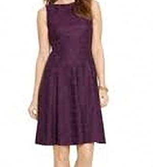 American Living Lace Textured Women's Sheath Dress Purple 12