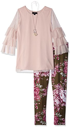 Amy Byer Girls' Big Bell Sleeve Top and