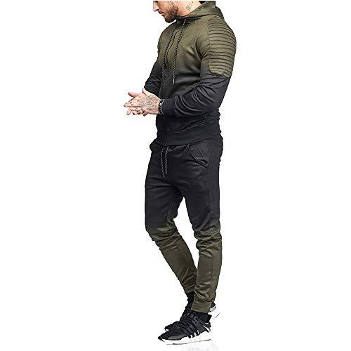 Maglietta Lunghe Maglione Uomo Pantaloni Tumbler Sportivo Sweatshirt T Felpe Tuta Top Weant Maniche Pullover Verde Magliette Maglia Shirt 80qFf8wOp