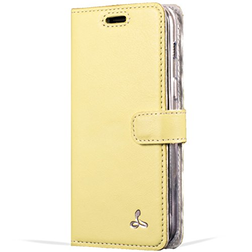 Samsung Galaxy A3 2017 Premium Pastel Leather Case with Credit Card / Note Slot for Samsung Galaxy A3 2017 (Lemon) from the Pastel Collection by Snakehive