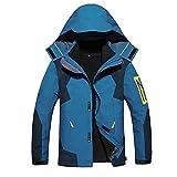 Alomoc Men's 3 in 1 Winter Jacket Outdoor Waterproof Softshell Raincoat Snowboard Clothing