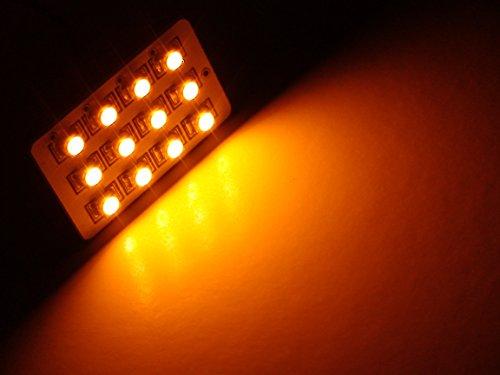 TWO Orange AMBER 12-LED SMD Panels fits all interior Light sockets T10 168 2825 BA9s 6411 6418 212-2 2122 *Lifetime Warranty*